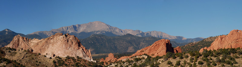 Another Panorama shot created in CS3 and taken from the Garden of the Gods visitors center.