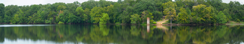 Buescher State Park Lake (6 image Panorama)