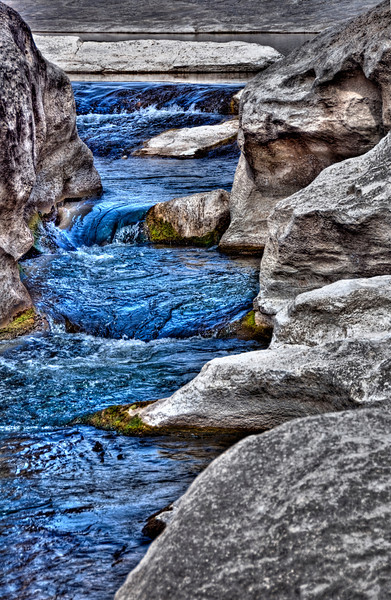 This is a small portion of Pedernales Falls with some HDR/Tonemapping applied to the image.