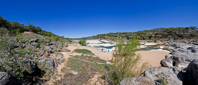 This is Pedernales Falls on the Pedernales River for which the park is named.