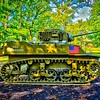 Cantigny Park - Wheaton, Illinois - Photo Taken: September 20, 2017 - M5 Stuart Tank - The U. S. Army used the M5 Stuart during World War II. Its thin armor and small main gun were overmatched against German tanks. Therefore, it was used primarily for reconnaissance and infantry support. The 70th Tank Battalion (Light) supported the 1st Infantry Division's invasions of North Africa (1942) and Sicily (1943) with M5s.