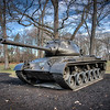 Cantigny Park - Wheaton, Illinois - Photo Taken: December 5, 2017 - M47 Patton Tank - The M47 was designed to replace the M46 during the Korean War. However, the conflict ended before these new tanks were completed. A majority were sent to U. S. forces in Europe, including the 63rd Tank Battalion, 1st Infantry Division. The markings on this tank represent that unit.