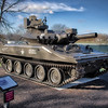 Cantigny Park - Wheaton, Illinois - Photo Taken: December 5, 2017 - M551A1 Sheridan Tank - The M551 is an armored reconnaissance / airporne assault vehicle. It can be air-dropped onto the battlefield and can float. It is capable of firing both the Shillelagh infrared guided missles and conventional ammunition. The 1st Battalion, 63rd Armor Regiment, 1st Infantry Division used M551s during stateside training in the late 1960s and 1970s.
