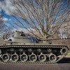Cantigny Park - Wheaton, Illinois - Photo Taken: December 5, 2017 - M48 Patton Tank - The M48 was the U. S. Army's primary tank during the Vietnam War. Introduced in 1955, it replaced the hastily designed M47. During standardization testing its hull, turret and suspension system were modified to improve its reliability on the battlefield. This tank's markings represent the 1st Squadron, 4th Cavalry, 1st Infantry Division.