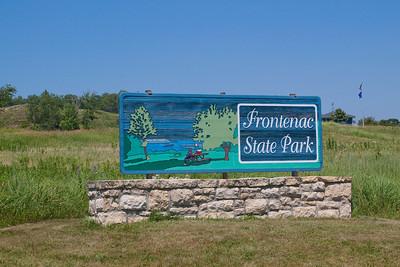Entering Frontenac State Park