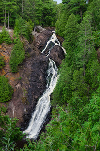 Highest waterfall in the state of Wisconsin.