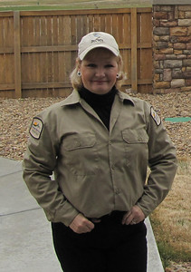 Me in my Volunteer Naturalist Uniform for Barr Lake State Park in Colorado