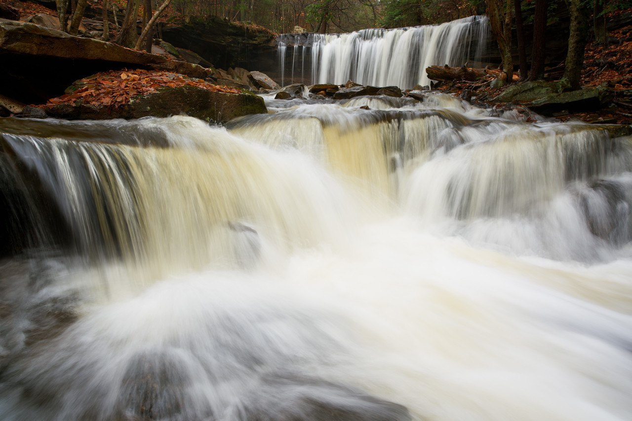 Little Falls with Oneida Falls, Ricketts Glen State Park