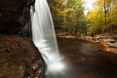 Behind Oneida Falls, Ricketts Glen State Park