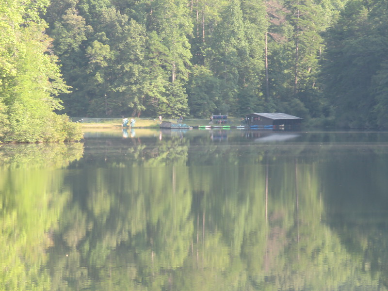 boat dock from across the lake