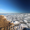 Tawas Point S.P. Beach with Ice on the Lake #5