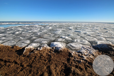 Tawas Point S.P. Beach with Ice on the Lake #6