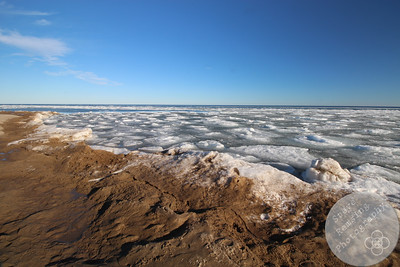 Tawas Point S.P. Beach with Ice on the Lake #2