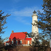 Tawas Point Lighthouse Between the Trees