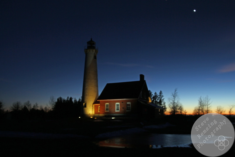 Tawas Point Lighthouse at Sunset #2
