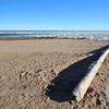 Tawas Point S.P. Beach with Ice on the Lake #1