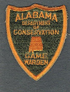 ALABAMA DEPT CONSERVATION GAME WARDEN