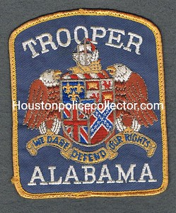 ALABAMA TROOPER BLUE BACKGROUND