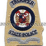 WISH,AL,ALABAMA STATE TROOPER BADGE PATCH STATE SHAPED 1