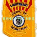 ARIZONA,ARIZONA DEPARTMENT OF CORRECTIONS BADGE PATCH LIEUTENANT 1 STATE SHAPED_wm