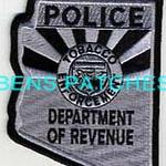 ARIZONA,ARIZONA DEPARTMENT OF REVENUE TOBACCO ENFORCMENT POLICE SUBDUED 1 STATE SHAPED_wm