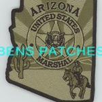 ARIZONA,UNITED STATES MARSHAL SUBDUED 4 STATE SHAPED