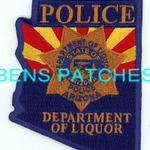 ARIZONA,ARIZONA STATE DEPARTMENT OF LIQUOR POLICE 5 STATE SHAPED