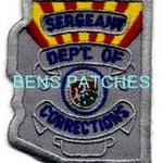 ARIZONA,ARIZONA DEPARTMENT OF CORRECTIONS BADGE PATCH SERGEANT 1 STATE SHAPED_wm