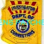 ARIZONA,ARIZONA DEPARTMENT OF CORRECTIONS INVESTIGATOR HAT PATCH 1 STATE SHAPED_wm