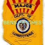 ARIZONA,ARIZONA DEPARTMENT OF CORRECTIONS BADGE PATCH MAJOR 1 STATE SHAPED_wm