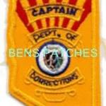 ARIZONA,ARIZONA DEPARTMENT OF CORRECTIONS BADGE PATCH CAPTAIN 1 STATE SHAPED_wm