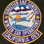 WISH,CA,CALIFORNIA OFFICE OF EMERGENCY SERVICES OES DIRECTION AND CONTROL WINTER SEARCH AND RESCUE OPERATIONS 1