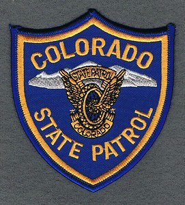 COLORADO STATE PATROL THIN LETTERS