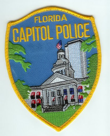 Police believed that Capitol Police should be its own agency so he physically removed the D_M_S_ stitching_ D_M_S_ Officials noticed this and removed the Chief_