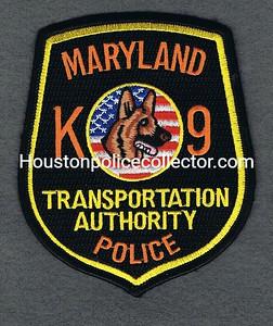MD TRANSPORTATION AUTHORITY K9