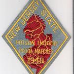 WISH,NJ,NEW JERSEY STATE PRISON INDOOR PISTOL MATCH 1940 1