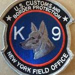 WISH,NY,UNITED STATES CUSTOMS K-9 1
