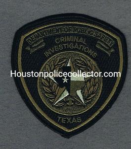 TEXAS DPS CRIMINAL INVESTIGATIONS CLOTH