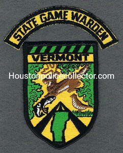 VERMONT STATE GAME WARDEN TAB