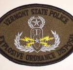 WISH,VT,VERMONT STATE POLICE EXPLOSIVE ORDINANCE DISPOSAL 1