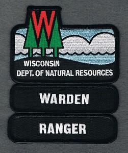 WI DEPT OF NATURAL RESOURCES WARDEN RANGER TABS