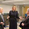 House Rep Lori Trahan talks to Mayor Stephen DiNatale as FSU President Richard Lapidus looks on SENTINEL&ENTERPRISE/Scott LaPrade