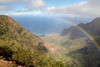 View into Kalalau Valley, Kauai; near one of the wettest spots on earth