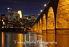 Stone Arch Bridge in Minneapolis at night (Photo #2094)