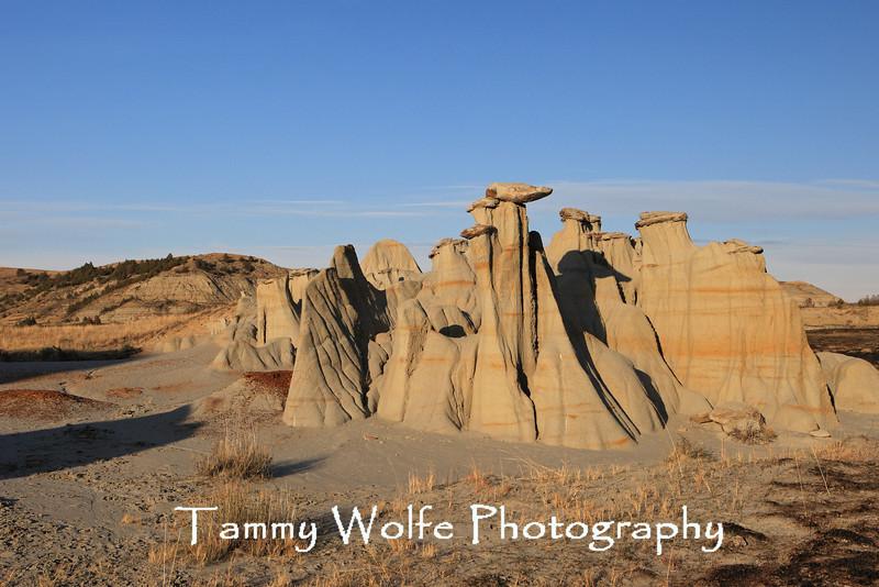 Badlands Rock Formation, Theodore Roosevelt National Park, North Dakota