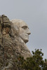 George Washington's Profile in Granite, Mount Rushmore National Memorial, South Dakota
