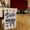 Election worker Irene Greco waits for voters at precinct 5B at the polls in Leominster City Hall on Tuesday December 5, 2017 for the Worcester Middlesex District State Senate race. SENTINEL & ENTERPRISE/JOHN LOVE