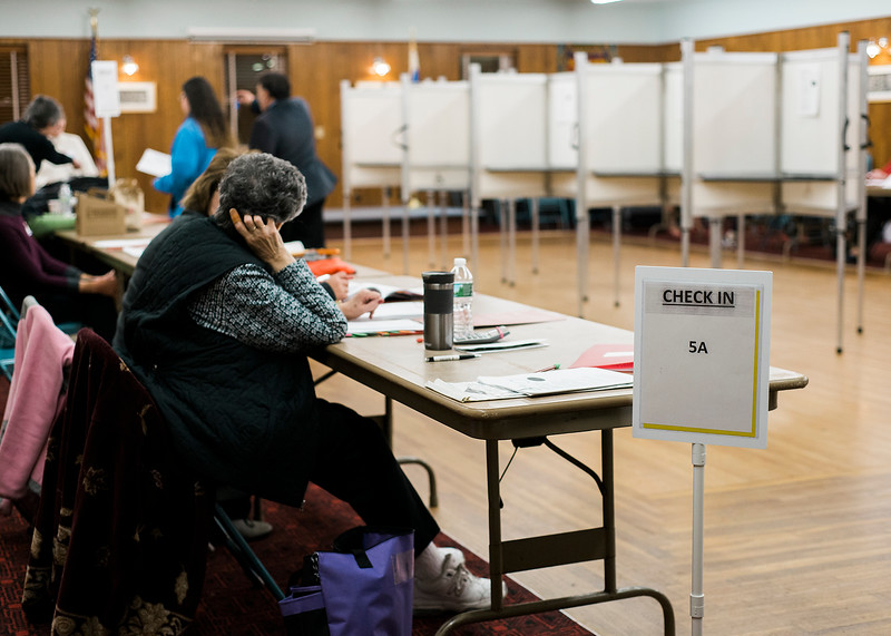 Poll workers reported a low turnout at the Saima Park during the general special election for the Worcester-Middlesex state Senate seat vacated by Jennifer Flanagan on Tuesday, December 5, 2017. SENTINEL & ENTERPRISE / Ashley Green