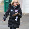 Candidate Sue Chalifoux Zephi went door to door on Swan Street in Fitchburg on Tuesday December 5, 2017 during the Worcester Middlesex District State Senate race. SENTINEL & ENTERPRISE/JOHN LOVE