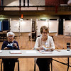 Poll workers Pauline Sala and Frances Zakrzewski spend their downtime reading during the general special election for the Worcester-Middlesex state Senate seat vacated by Jennifer Flanagan on Tuesday, December 5, 2017. SENTINEL & ENTERPRISE / Ashley Green